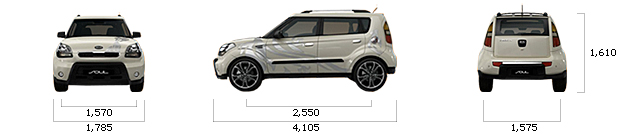 размеры kia SOUL diesel 1.6 2U Advanced A/T